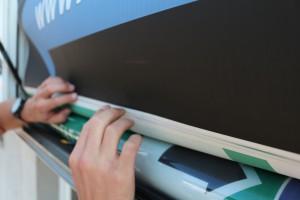 Rollboard Plaktwechsler Citylight Plakatwechsel