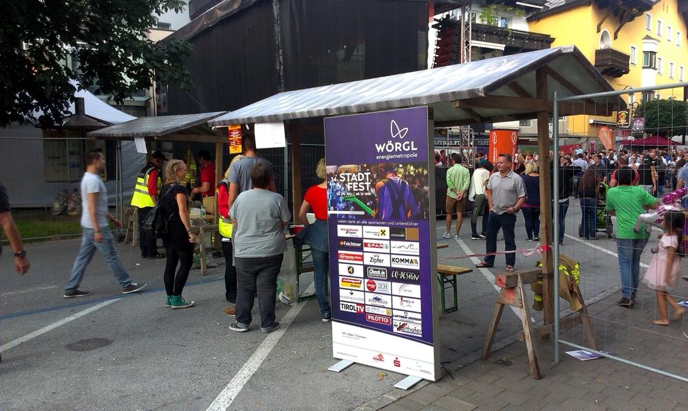 Stadtfest Wörgl LED-Promotion-Aufsteller